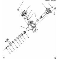 2012-2016 GM Trucks Steering Shaft Pitman Gear Shaft Arm New OEM 15813692