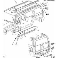 2006-2010 Hummer H3 RH Passenger Side Rocker Panel Molding New OEM Gray 15817835