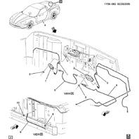 2005-13 Chevrolet Corvette C6 Radio Antenna Japan Market Used 12249507 10321834
