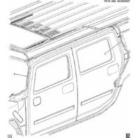2008-2009 Hummer H2 Sunroof Rear Left Drain Hose New OEM 15866192
