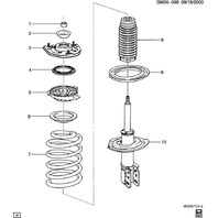 1990-2011 GM Front Strut Bearing Mount New OEM 15873303 15211342