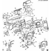 2005-2013 Corvette C6 Right Dash Frame Bracket Glove Box Used 15892018 15266469