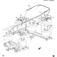 2008-09 Topkick/Kodiak C8500 Rear Air Suspension Leveling Valve Norgren 15912754