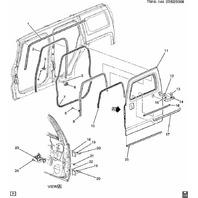 2006-2010 Hummer H3/H3T Front Door Hinge Stopper Check New OEM 15929237