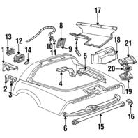 1984-1989 Chevy Corvette C4 Rear Right Speaker W/Amp Bose Used OEM 16022301