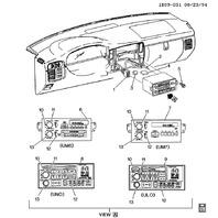 1995-2005 GM Radio Control Knob Fader / Balance Control Knob New OEM 16181831