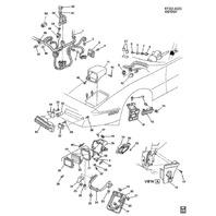 1984-1996 Chevy Corvette C4 Headlight Stop Screw New OEM 16503177 14069670