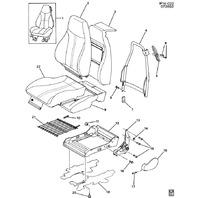 2000-2002 Camaro Firebird Trans Am Seat Back Lock Release Knob New OEM 16817198