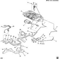 2000-2013 Chevy Corvette C5 C6 Evap Emission Canister Used 17098136 25324583