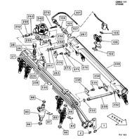 1985-1988 Corvette Camaro Firebird Left LH Fuel Rail LT1 New 17110866 17075958