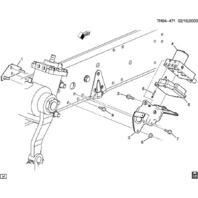 2003 2009 topkick kodiak ebcm brake control module bracket. Black Bedroom Furniture Sets. Home Design Ideas
