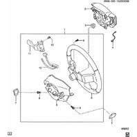 2009-2010 Pontiac Vibe Driver Airbag Half Pad Dark Gray New OEM 19184555