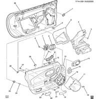 1997-2004 Chevy Corvette C5 Master Power Window Switch LH New - NON Memory