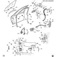 1997-03 Pontiac Grand Prix Front LH Window Regulator W/Motor Used 19251350 11A11