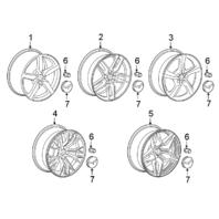 "2014-18 Corvette Front Wheel 19"" X 8.5"" Chrome 5-Spoke New 19302113 20986502"