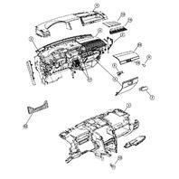 2007-09 Dodge Caliber Upper Storage Compartment Door Beige Tan New 1GJ31DK5AA