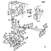 1983-90 GM Power Steering Hydraulic Hose Line Used OEM 2075152 02075152 02057855
