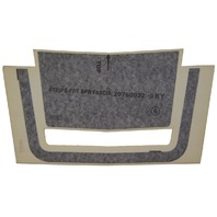 2007-2010 Saturn SKY Front Bumper Stripe Vinyl Decal New OEM Gray 20760932