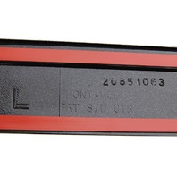 2008-10 GMC Acadia Traverse LF Door Exterior Moulding Carbon Flash Gray 20851077