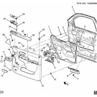 GM Trucks Front L & R Door Panel Armrest Trim Cover Black New 20934187 22874309