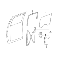 2007-2014 GM Sierra Yukon Rear Left Window Regulator W/Motor Used OEM 20945140