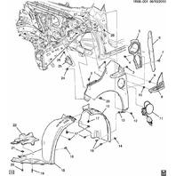 2011-2013 Chevrolet Volt Front Right Fender Wheel Liner Front Half New 20967774