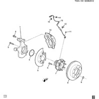 2007-2014 GM Front Wheel Bearing W/Speed Sensor New OEM 20980075 20835869 FW392