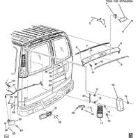 2003-2020 Express Savanna Vans 1500-3500 Right Taillight Used 20989661 84639024