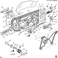 1997-2004 Chevy Corvette C5 Door Striker W/O Spacers & Bolts LH or RH 21090040