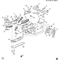 2004-2009 Cadillac XLR Left Side LH Body Rear Lock Pillar Filler Piece 21994838