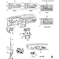 1987-1996 Chevrolet Beretta Radio Antenna Bezel Black New OEM 22583155 14103313