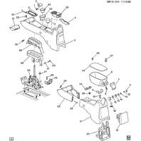 1997-05 Malibu & Cutlass Center Console Upper Hole Plug Pewter Gray New 22649576