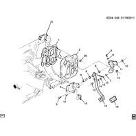 2006-2010 Solstice SKY Brake Pedal Position Sensor New OEM 22670896 89047704