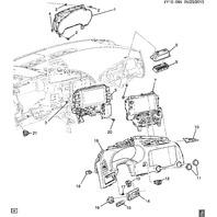 2014-2018 Chevy Corvette C7 Hazard Switch / Airbag Warning Light New 22866520