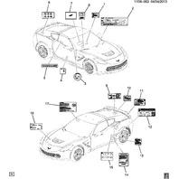 2014-2019 Chevy Corvette C7 A/C System Information Label New OEM 22961600