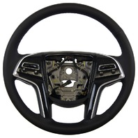 2013-14 Cadillac XTS Steering Wheel Black Leather W/Paddles/Heated New 23194623
