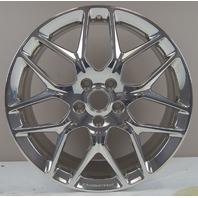 "2015-2016 Chevy Corvette Rear Wheel 20"" X 10"" Silver Aluminum New OEM 23246354"