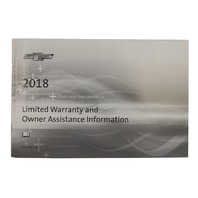 2018 Chevrolet Corvette C7 U.S Owners Manual W/Leather Pouch New OEM 23401128