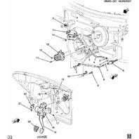 2007-2010 Saturn Sky Pontiac Solstice Slave Cylinder Turbo 2.0 Redline GXP OEM