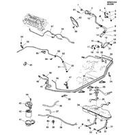 1987-1990 Grand AM Cutlass Skylark Fuel Hose Line New OEM 24570910 22535704