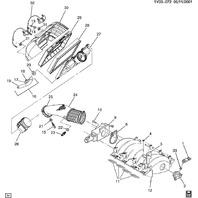 1998-2002 Chevy Corvette C5 Air Filter Housing Bracket Used 25315960 25166571