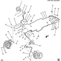 1997-2009 Topkick/Kodiak Brake Line Holder Clip New OEM 25658858 15-002412