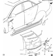 2004-2013 Cadillac SRX & CTS Rocker Panel Side Trim Retainer New OEM 25744385