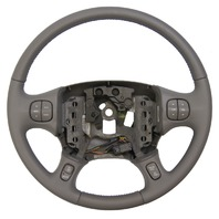 2000-2005 Buick LeSabre Steering Wheel Med Grey Leather New W/Cruise/Audio/Temp