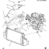 2006-2008 Buick Lucerne Upper Radiator Hose 3.8L V6 New OEM 10365400 25772238