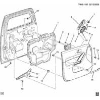2008-2010 Hummer H3 Right RH Front Door Armrest Panel Trim Plate Black 25782263