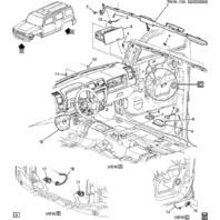 2010 Hummer H3 H3T Rollover Airbag Air Bag Sensor New OEM 20842671