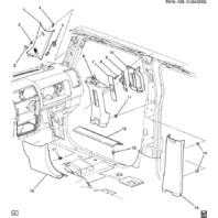 2006-2010 Hummer H3 Tan Seat Belt B Pillar Panel RH Passenger Side 25820083