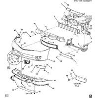 Cadillac XLR Lower Front Air Deflector Right Side RH OEM New Black 25844518