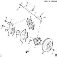 1999-2017 GM Front Left LH Brake Dust Shield New OEM YKW 25846355 15719023